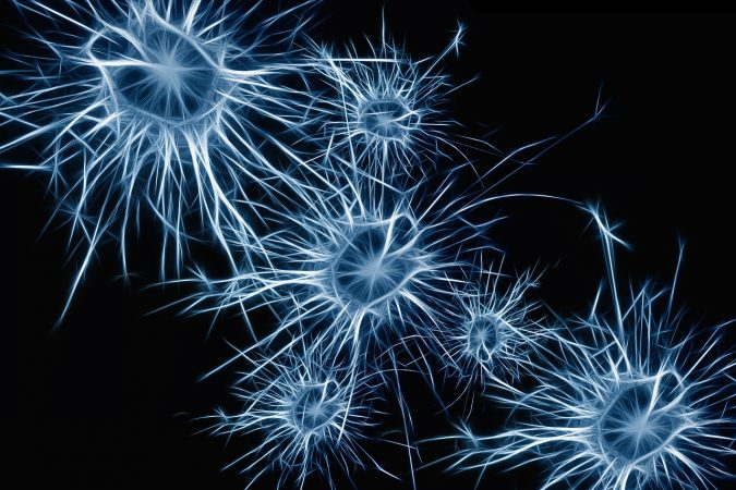 neurons-blue